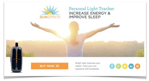 screenshot of SunSprite website